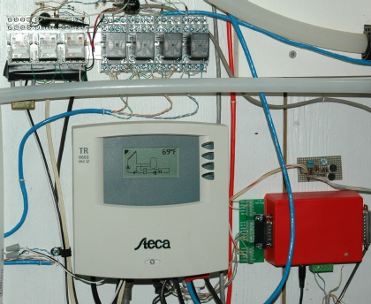 solar controller and monitoring electronics